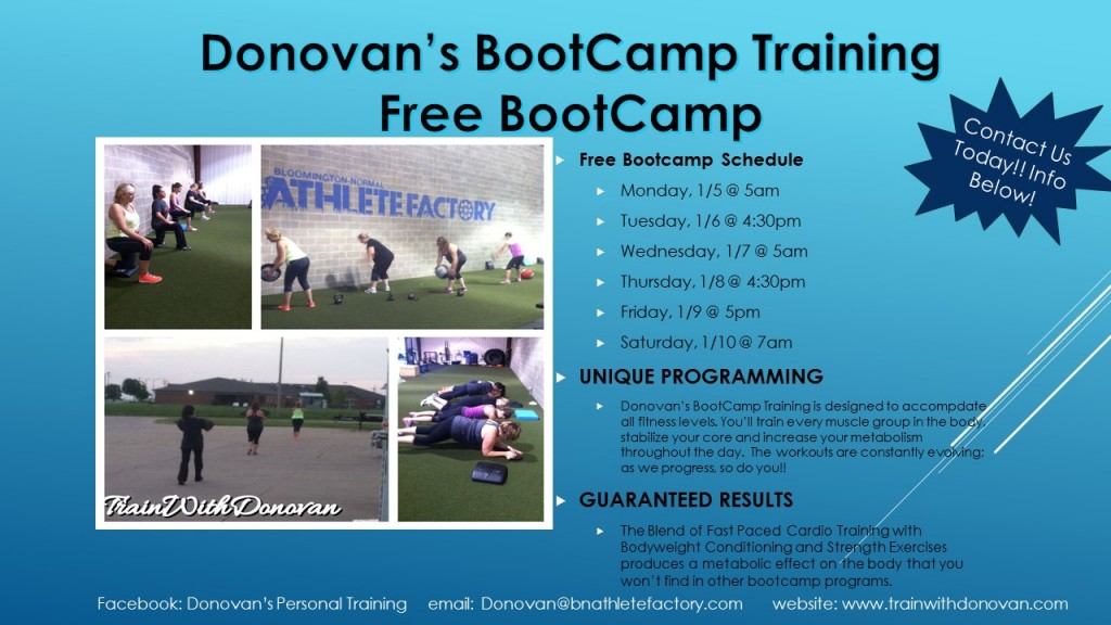 Donovan's Bootcamp Flyer